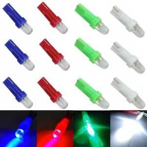 10pcs T5 DC 12V LED Car Wedge Dashboard Dash Gauge Light Lamp Multi-Color Bulbs