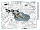 """Model Airplane Plans (UC): Convair XF-92A 1/12 Scale 32"""" for Dyna-Jet"""