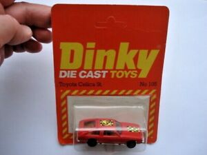 C1970S VINTAGE DINKY TOYS No105 TOYOTA CELICA ST HATCH MINT BOXED TOY CAR