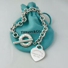 Please Return to Tiffany & CO Heart Tag Toggle Charm Bracelet