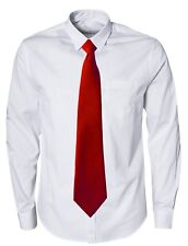 WCT - Matte Plain Solid Clip On Clipper Tie - Regular and XL Extra Long Length