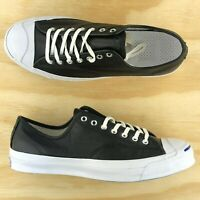 Converse Jack Purcell Signature Ox Black White Leather Low Top Shoe 149910C Size