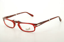 New Authentic Persol Glasses 2886-V 126 Red/Silver 51mm Foldable RX with Case