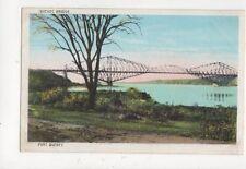Quebec Bridge Vintage Postcard Canada 514a