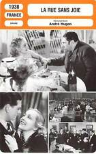 FICHE CINEMA : LA RUE SANS JOIE - Préjean,Parlo,Hugon 1938 Street Without Joy
