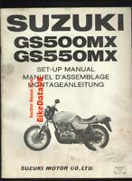 Suzuki GS550M Katana (1981 >>) Genuine Factory Set-Up Manual GS 550 500 M BV61