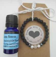 HANDMADE CHILDS Lava Stone Essential Oil Diffuser Bracelet with 10ml Oil