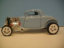 1:18 Scale Ertl American Muscle 1934 Baby Blue 3 Window Coupe Diecast Street Rod