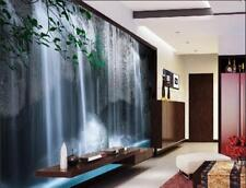 3D Flowing Waterfall landscape Self-adhesive TV Background Wallpaper Wall Murals