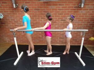 1.0 MTR STAINLESS STEEL ADJUSTABLE HEIGHT PORTABLE BALLET BARRE BY SLIM GYM LTD