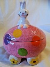 NEW Cracker Barrel - Easter Egg Car- Bunny Collection - Ceramic Candy Dish w/Lid