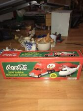 Vtg Coca Cola Coke 2000 Holiday Helicopter Carrier Tractor Trailer Semi Truck