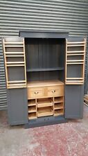 shaker pine painted kitchen larder unit with drawer /bespoke farrow and ball