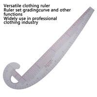 Plastic Curve Metric Sewing Ruler 360 Degree Bend Set GradinSSE