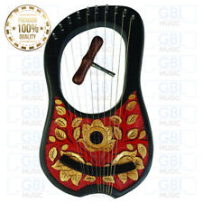 Golden Leave 10 strings Rosewood Lyre Harp with free key and bag + string set