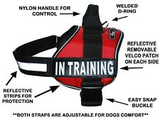 Doggie Stylz IN TRAINING Service Dog Harness Vest Nylon for Small Medium Large