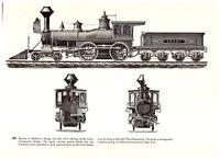 Grant Baldwin Interior Exterior Front Back Locomotive 1871/1872 Train print