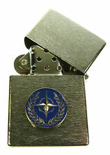NATO NORTH ATLANTIC TREATY ORGANISATION  WINDPROOF CHROME PLATED LIGHTER