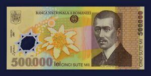 ROMANIA - P115a - 500.000 500000 Lei 2000 POLYMER - Ghizari Signature - UNC