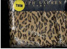 Ralph Lauren Aragon Neutral Guinevere Leopard Twin Fitted Sheet New