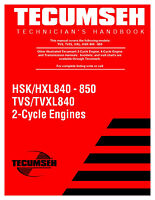 TECUMSEH 2-CYCLE ENGINE TECHNICIAN'S HANDBOOK SERVICE REPAIR PAPER MANUAL - 1996