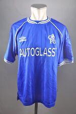 Chelsea London Trikot 1999-2000 Home Gr. M Umbro blau Jersey Autoglass vintage