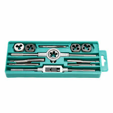 METRIC Tap and Die Set 12 Piece w/Case Tapping Threading Chasing Repair Tools