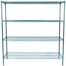 """Heavy Duty 24"""" x 72"""" x 74"""" Green Epoxy Wire Storage Shelf Rack Kit Commercial"""