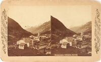AUTRICHE Tyrol Flirsch Panorama, Photo Stereo Vintage Albumine PL62L11