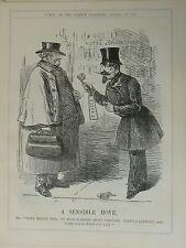 """7x10"""" punch cartoon 1860 A SENSIBLE MOVE napoleon"""