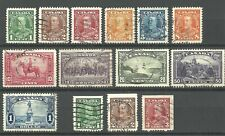 Canada King George V Pictorial Issue 1935 Used set plus booklet stamps