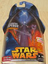 Star Wars Ep III ROTS Holographic Emperor Palpatine wLightsaber & Staff TRU NOSC