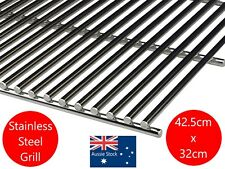 STAINLESS STEEL BBQ BARBECUE GRILL GRILLE PLATE 42.5  X 32 cm  SOLID 8mm BARS