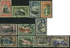 Ceylon Scott #264 - #274 Complete Set of 11 Used