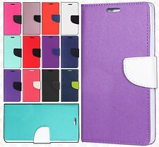 For HTC Desire 530 Leather 2 Tone Wallet Case Pouch Flip Cover +Screen Protector