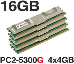 16GB (4x4GB) M395T5160QZ4-YE68 DDR2 PC2-5300G 667MHz ECC FB Server Memory Ram