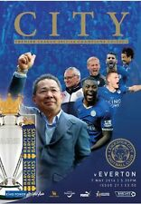 LEICESTER CHAMPIONS v EVERTON 2015/16 MINT PROGRAMME 2016