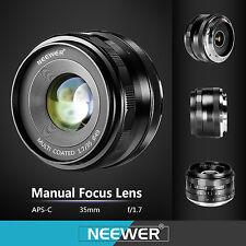 Neewer Obiettivo Primario Focale Fissa 35mm f/1,7 Manuale Focus per Sony E-Mount