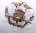 Antique Semi Flush Mount Art Deco Ceiling Light Fixture CHANDELIER~2 AVAILABLE
