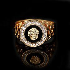 Ring Golden Lion Head Diamond Jewelery Popular Personalize Band Decoration #6