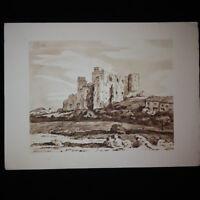 Gravure de Maurice de Lambert: Le château de Lourmarin