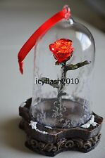 Beauty and the Beast Enchanted Rose Light-Up Ornament - Live Action Film