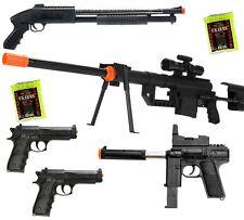 Dark Ops Airsoft *LOT OF 5* Airsoft Guns SNIPER RIFLE & Shotgun & Uzi &a
