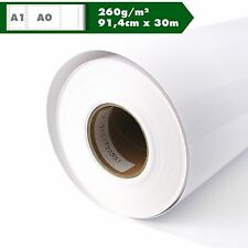 Inkjet Plotterrolle hochglänzend Plotterpapier 260g/m² 91,4cm x 30m A0 A1 Glossy