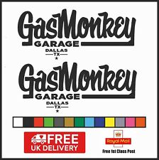 Gas Monkey Vinyl Decal Sticker Set of 2, GMG, Free 1st Class UK Delivery