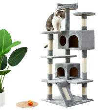 Multi-Level Cat Tree w/ Flexible Pole Covered with Sisal Cat Tower for Cats&Pets
