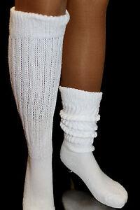 3 Slouch Socks Scrunchie to Knee Workout Hooters Uniform run hiking soccer USA