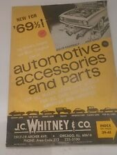 1969 J.C Whitney & Co. Automotive Accessories And Parts Catalog No. 268