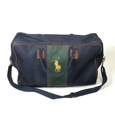 Polo Ralph Lauren Big Pony Large Canvas Travel Weekender Overnight Duffle Bag