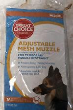 Adjustable Mesh Muzzle: Medium Size Comfortable Durable Mesh Dog Muzzle